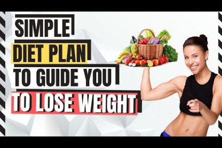 Simple Diet Plan to Guide You to Lose Weight Infographic