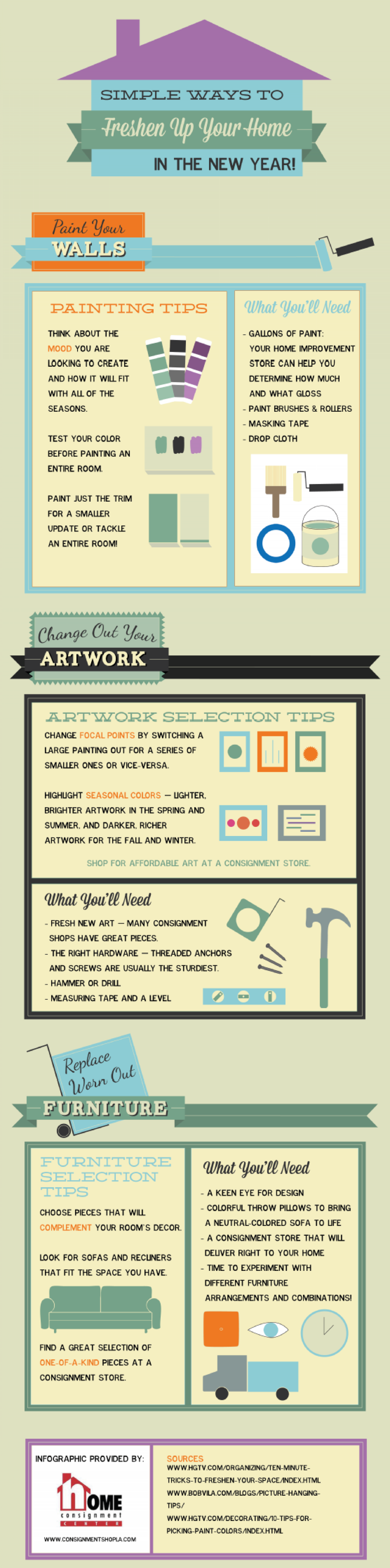 Simple Ways to Freshen Up Your Home in the New Year! Infographic