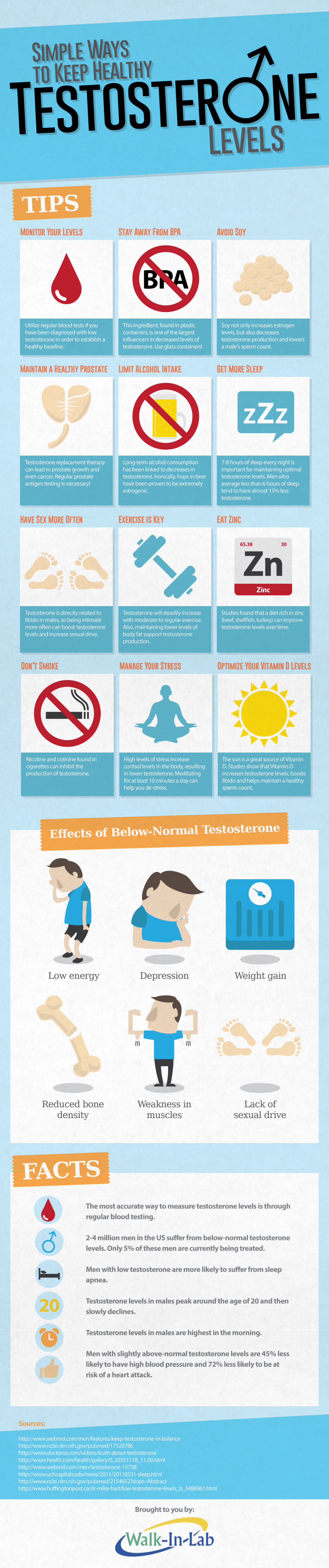 Simple Ways to Keep Healthy Testosterone Levels Infographic