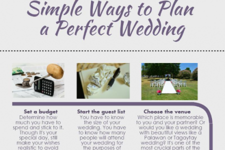 Simple Ways to Plan a Perfect Wedding Infographic