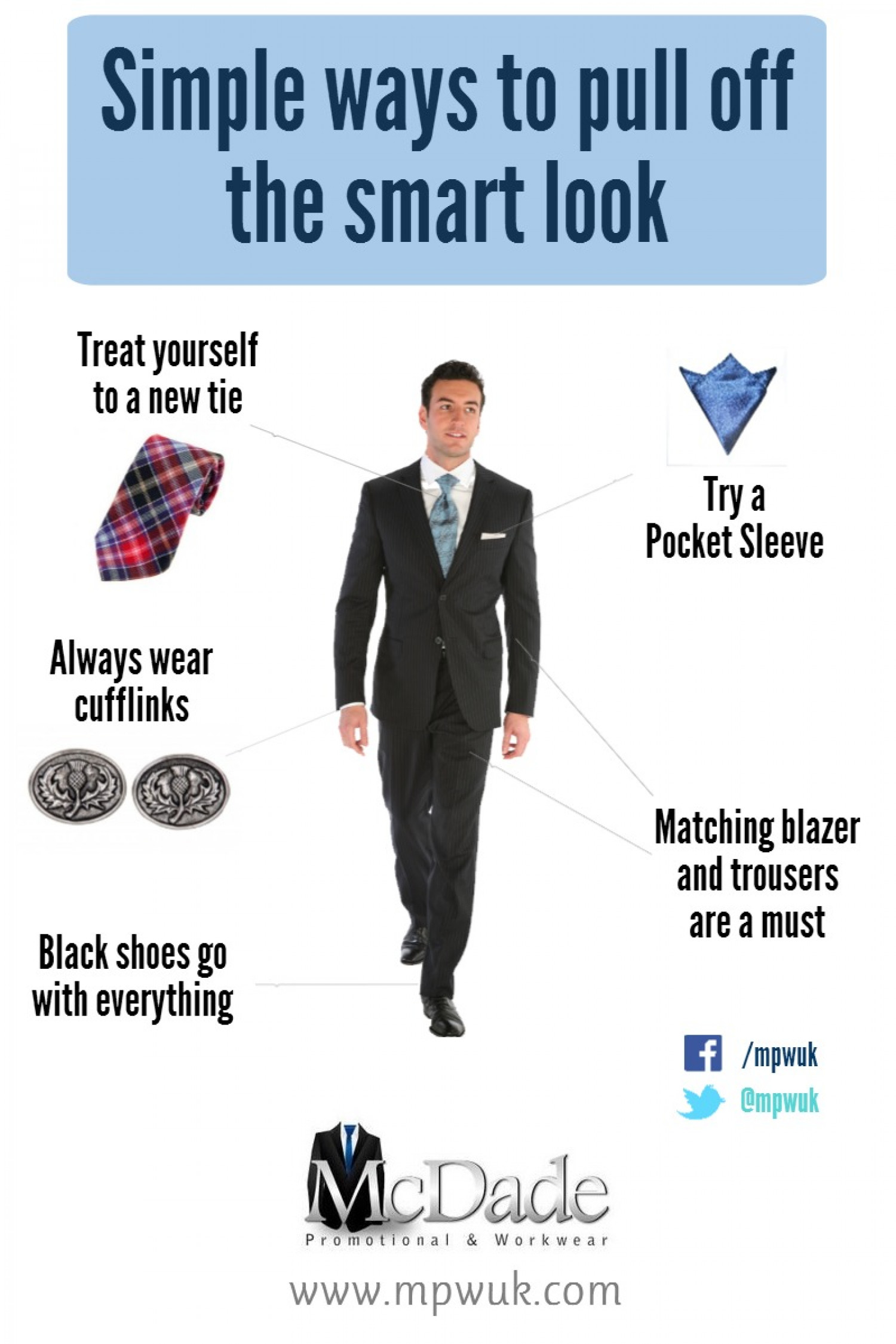 Simple Ways To Pull Off The Smart Look Infographic