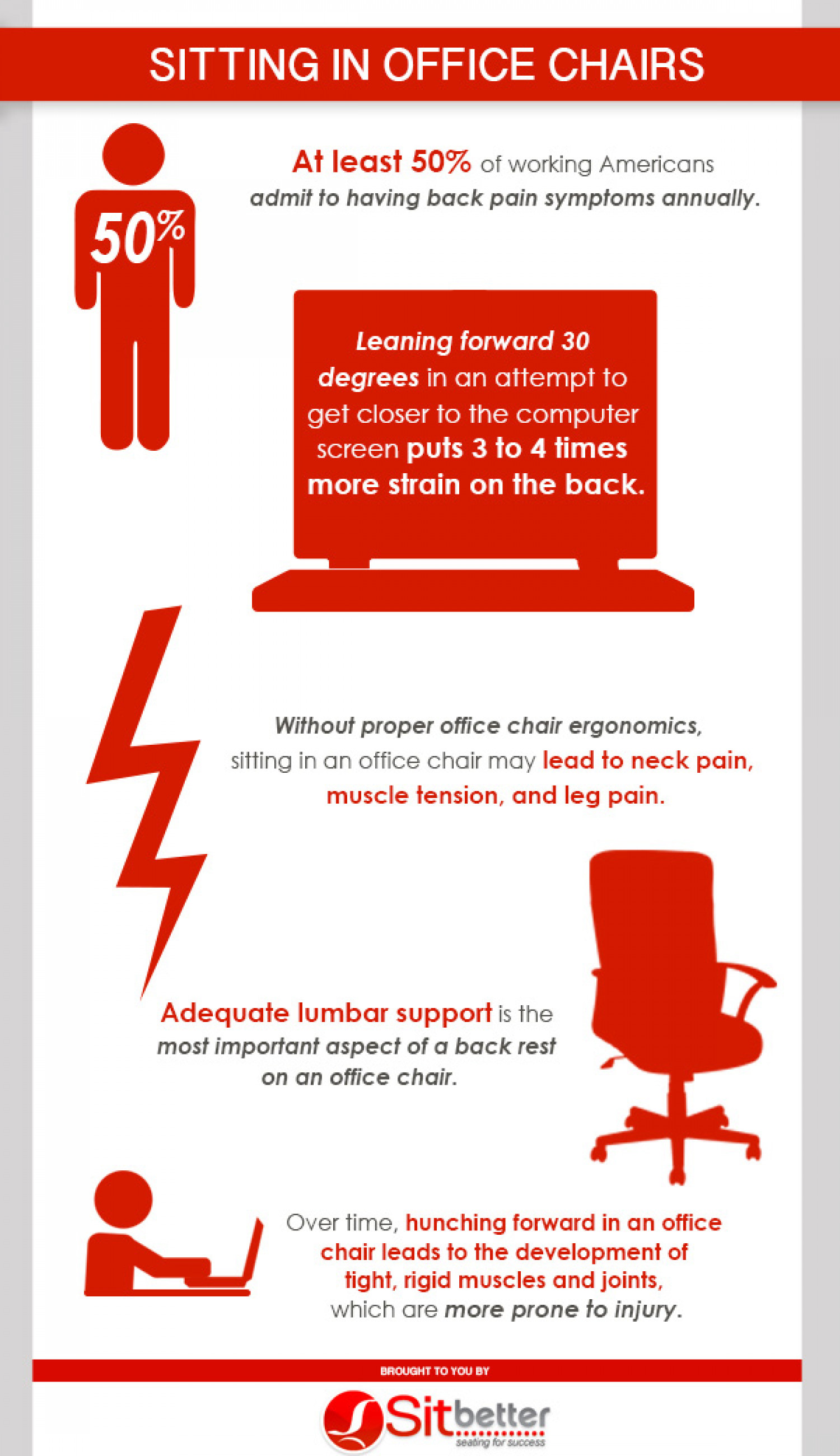 Sitting In Office Chairs Infographic