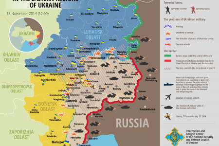 Situation in eastern Ukraine, November 13 Infographic
