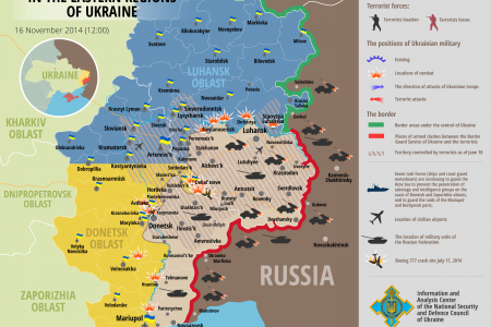 Situation in eastern Ukraine, November 16, 12:00 EET Infographic