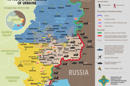 Situation in eastern Ukraine, September 10 Infographic