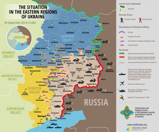 Situation in eastern Ukraine, September 30