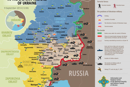 Situation in eastern Ukraine, September 9, 12-00EET Infographic