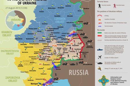 Situation is eastern regions of Ukraine, August 27 Infographic