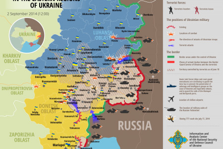 Situation in Eastern Regions of Ukraine, September 2 Infographic