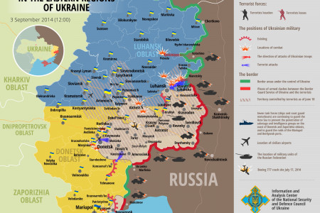 Situation in Eastern Regions of Ukraine, September 3 Infographic