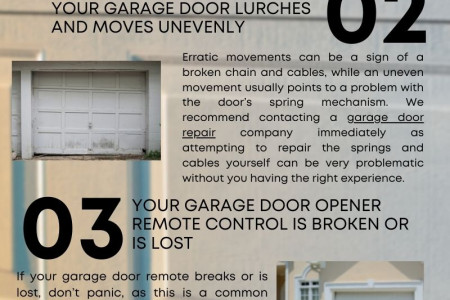 Situations in which you should contact a garage door repair company Infographic