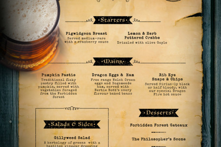 Six Fictional Film and TV Menus That Should Be Real… Infographic