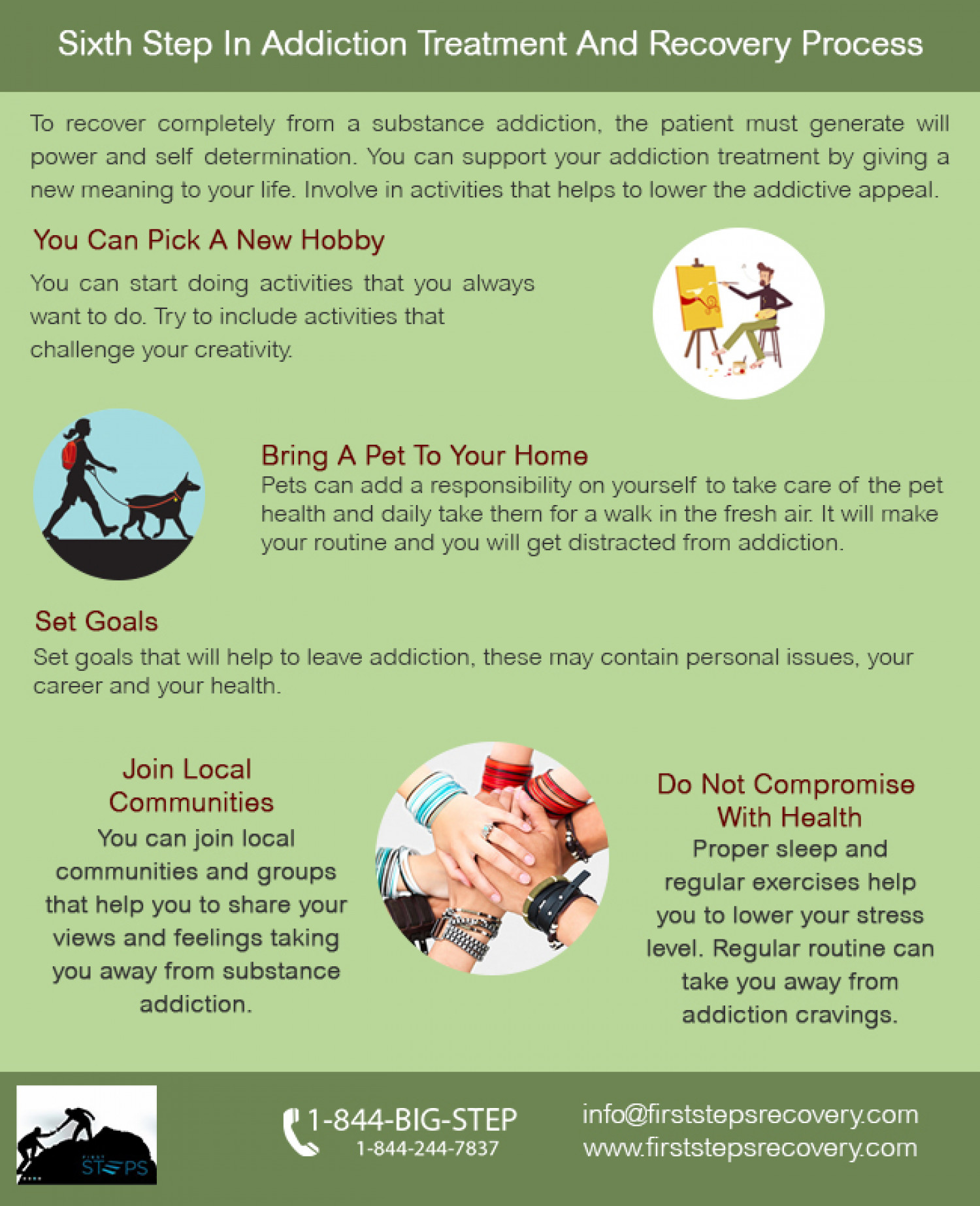 ... Step In Drug Addiction Treatment And Recovery Process Infographic