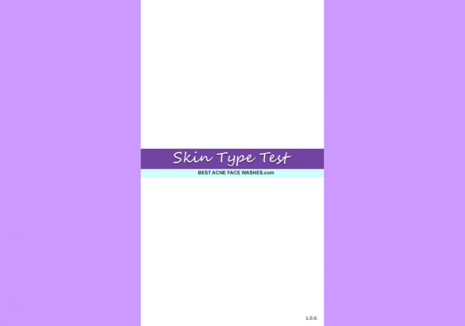 Skin and Acne Type Quiz Infographic