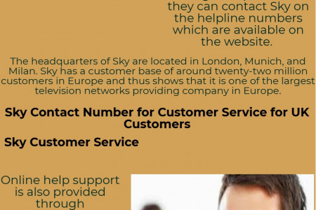Sky telephone number Infographic