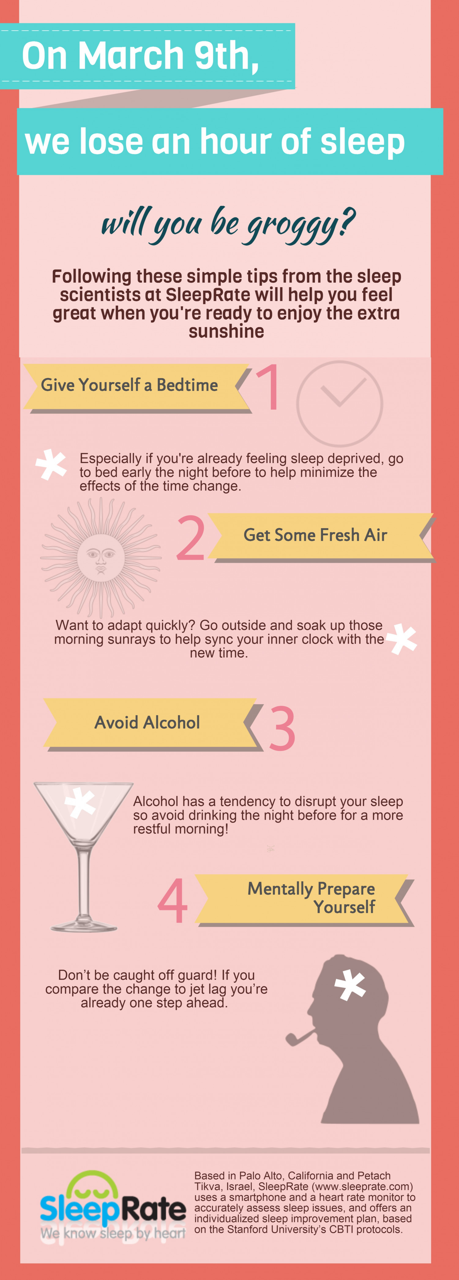 Sleep Tips to Spring Forward and Land Gently Infographic
