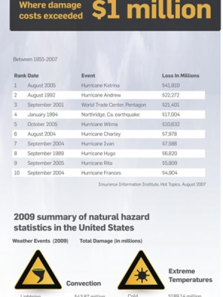 Small Business & Natural Disasters Infographic