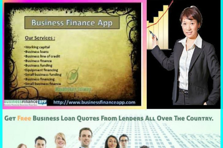 Small Business Finance and Loans – Business Finance App Infographic Infographic