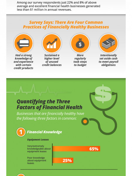 Small Business Financial Health by the Numbers Infographic