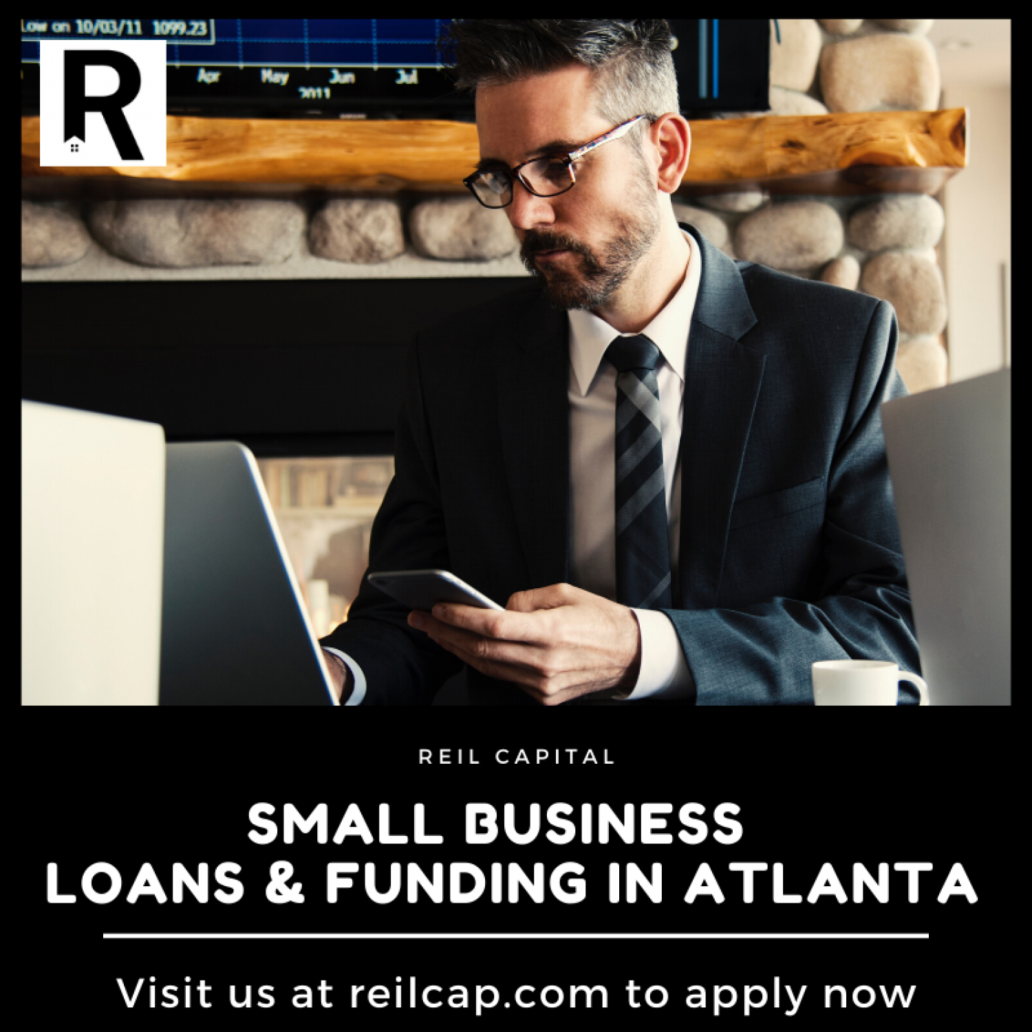 Small Business Loans & Funding in Atlanta Infographic