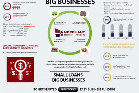 SMALL LOANS CAN MAKE BIG BUSINESSES Infographic