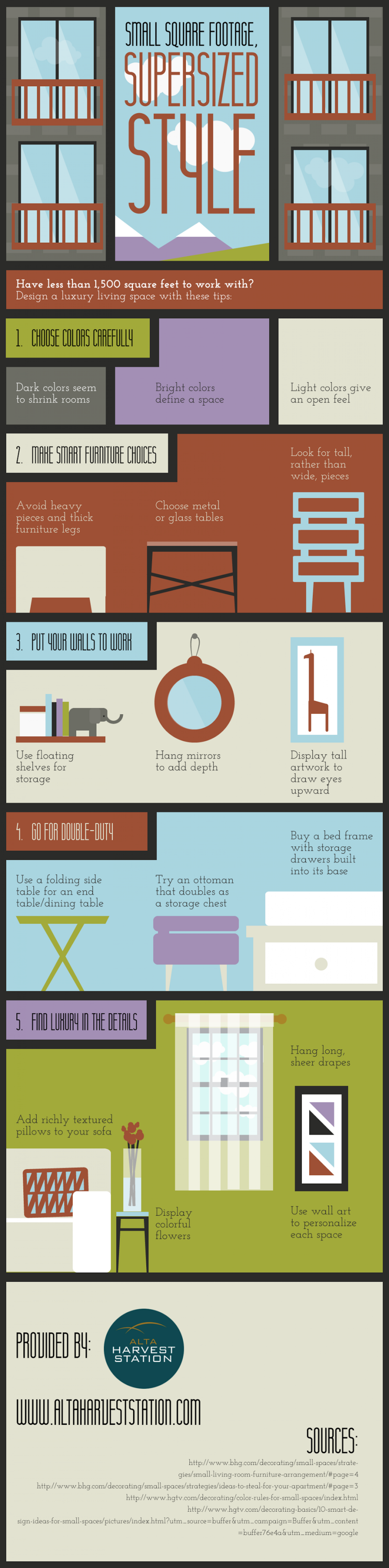 Small Square Footage, Supersized Style Infographic