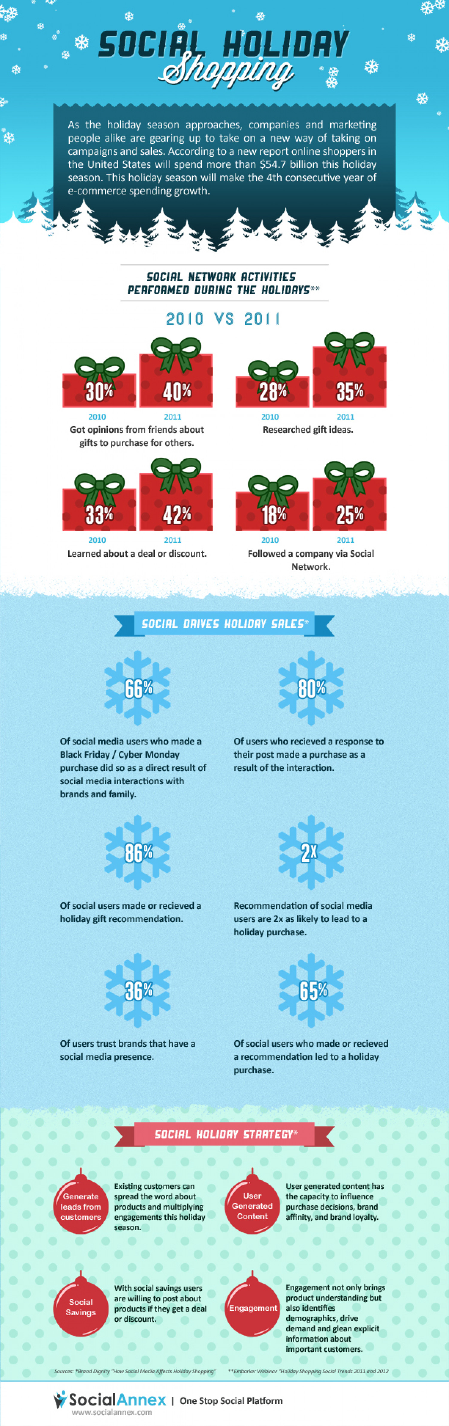 Social Holiday Shopping  Infographic