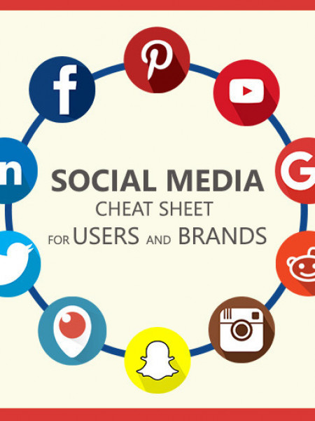 Social Media Cheat Sheet for Users and Brands Infographic