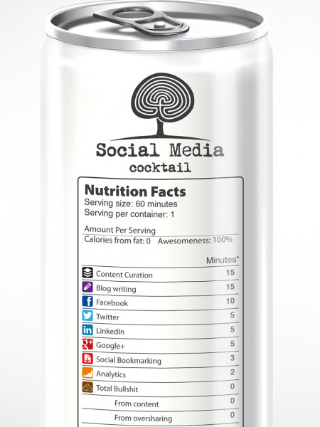 Social Media Cocktail  Infographic