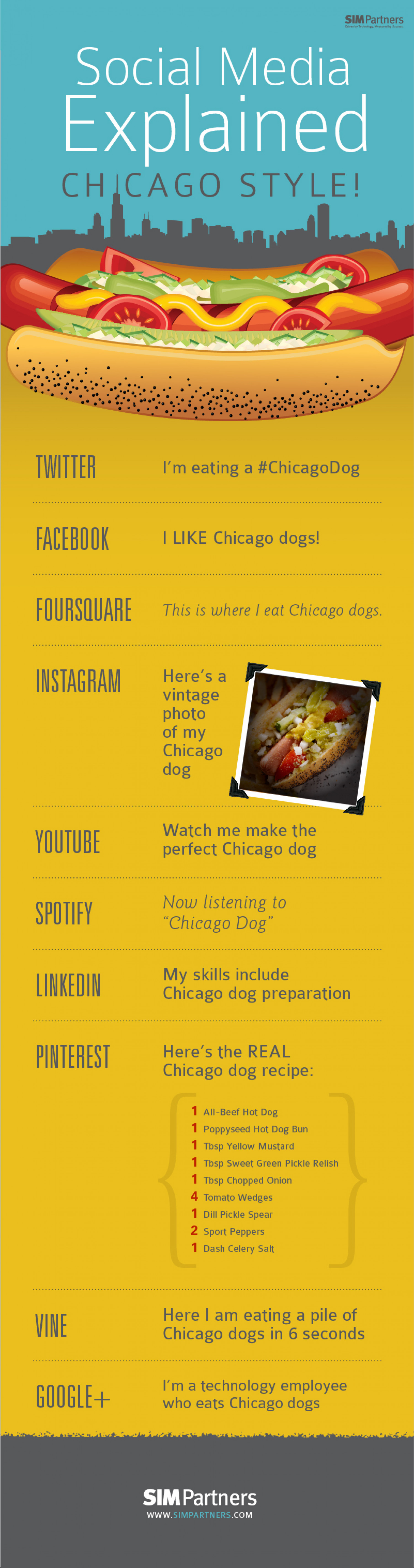 Social Media Explained: Chicago Style! Infographic