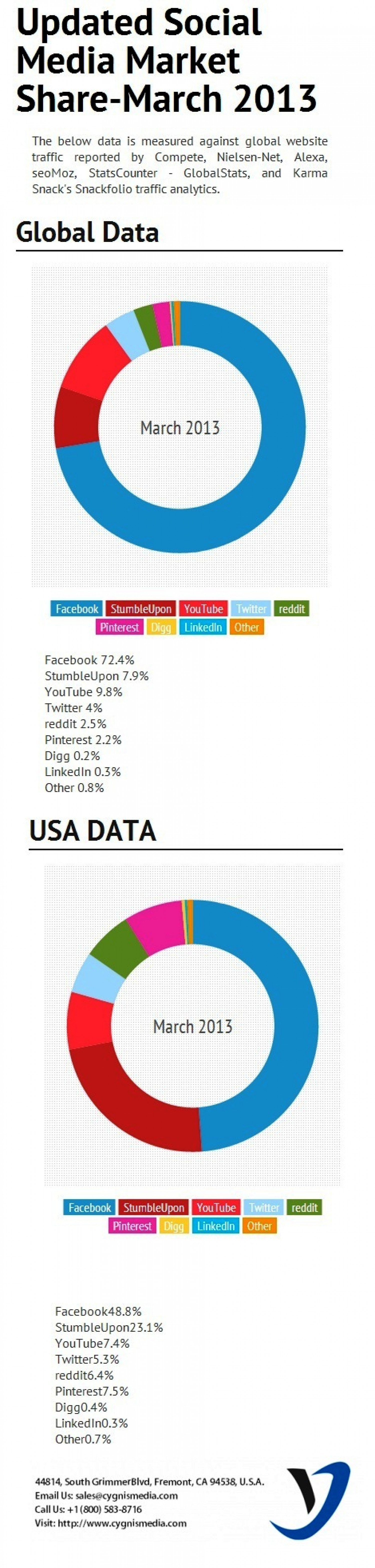 Social Media Market Share 2013 Infographic