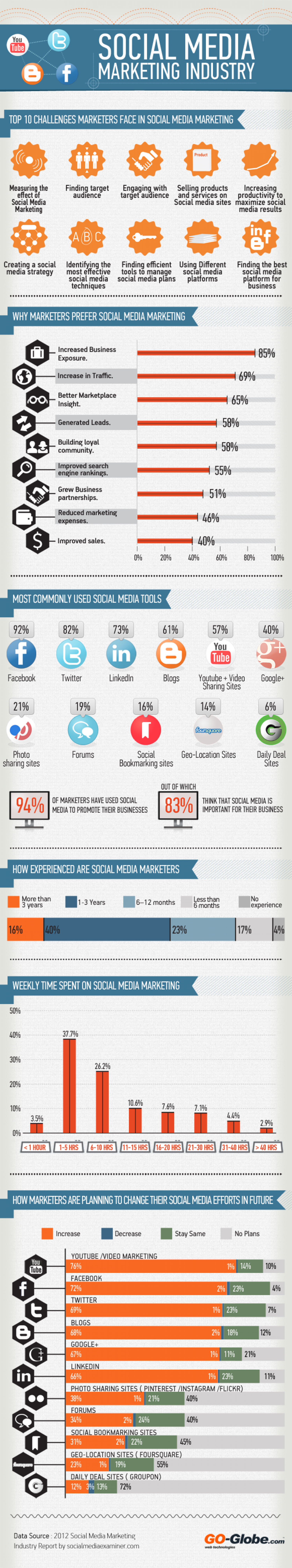 Social Media Marketing Industry Infographic