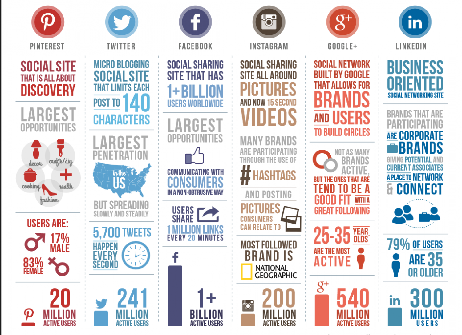 Social Media Network's infographic Infographic