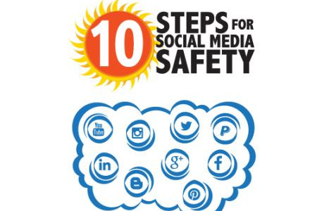10 Steps for Social Media Safety Infographic