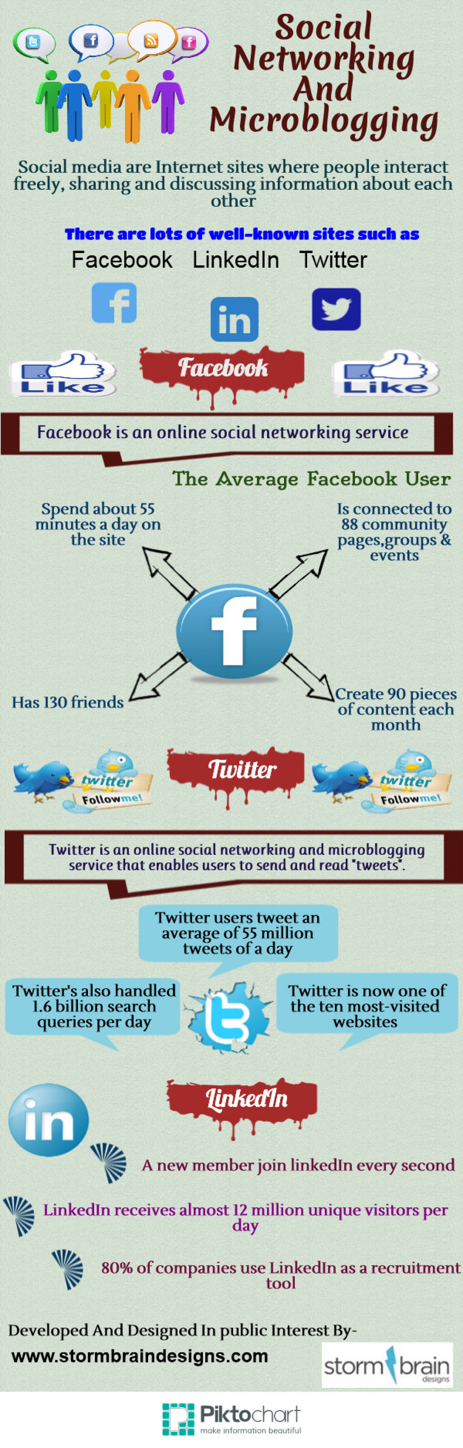 Social Networking And Microblogging Infographic