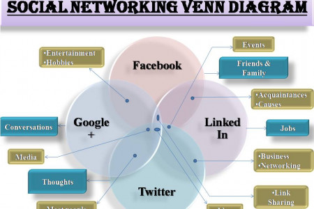 SOCIAL NETWORKING VENN DIAGRAM Infographic