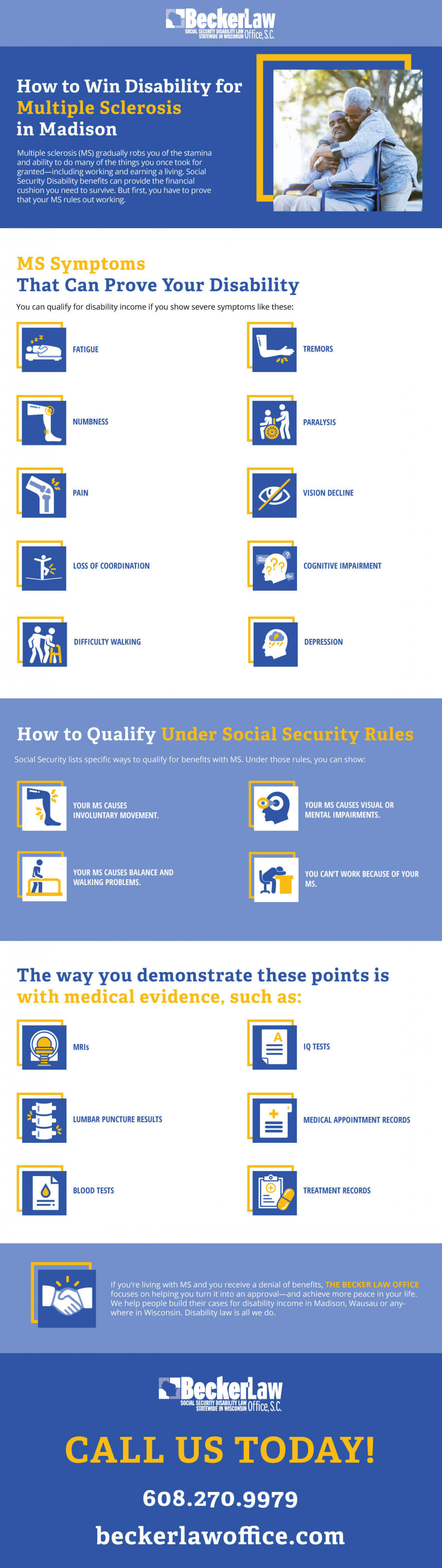 Social Security Disability for Multiple Sclerosis Infographic
