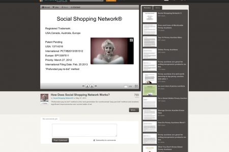 Social Shopping Network Infographic