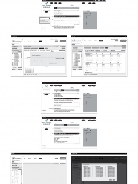 Software Interface Wireframes Infographic