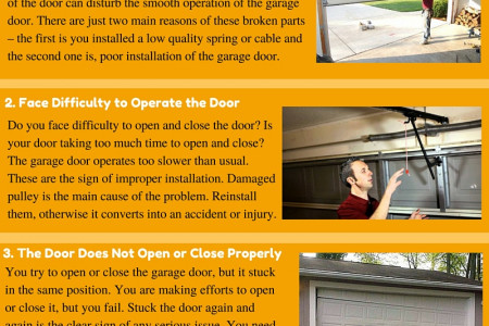 Some Important Signs that Show Your Garage Door Was Poorly Installed Infographic