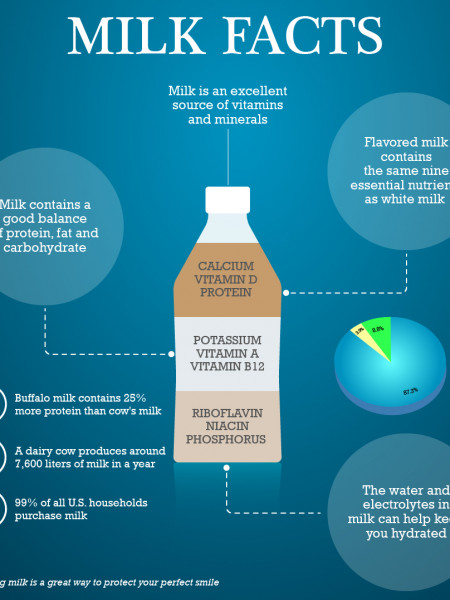 Some Interesting Facts about Milk Infographic