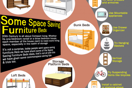 Some Space Saving Furniture Beds Infographic