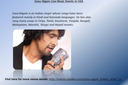 Sonu Nigam Live  Events in US Infographic