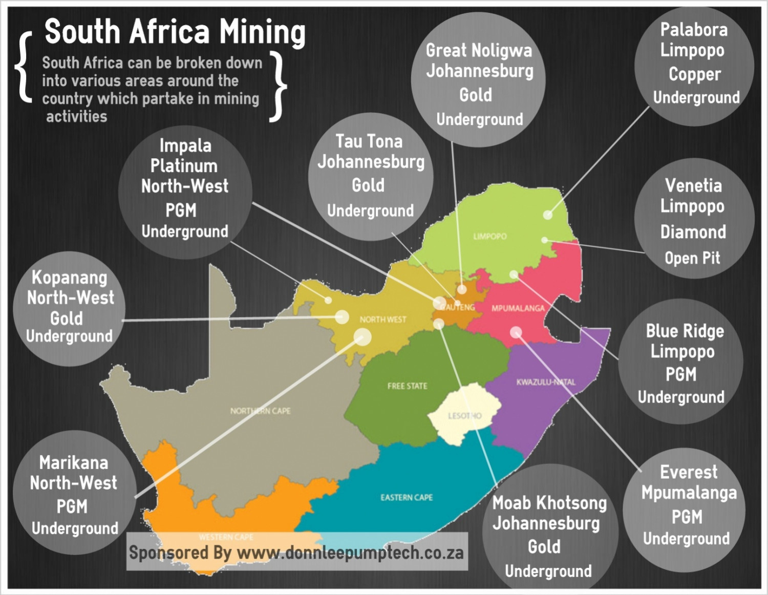 South Africa Mining Infographic