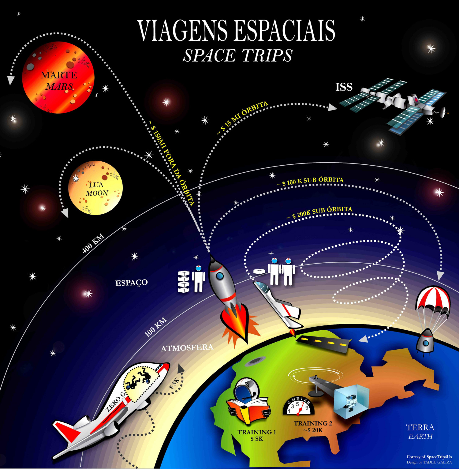 Space Flights &  Trips  Infographic