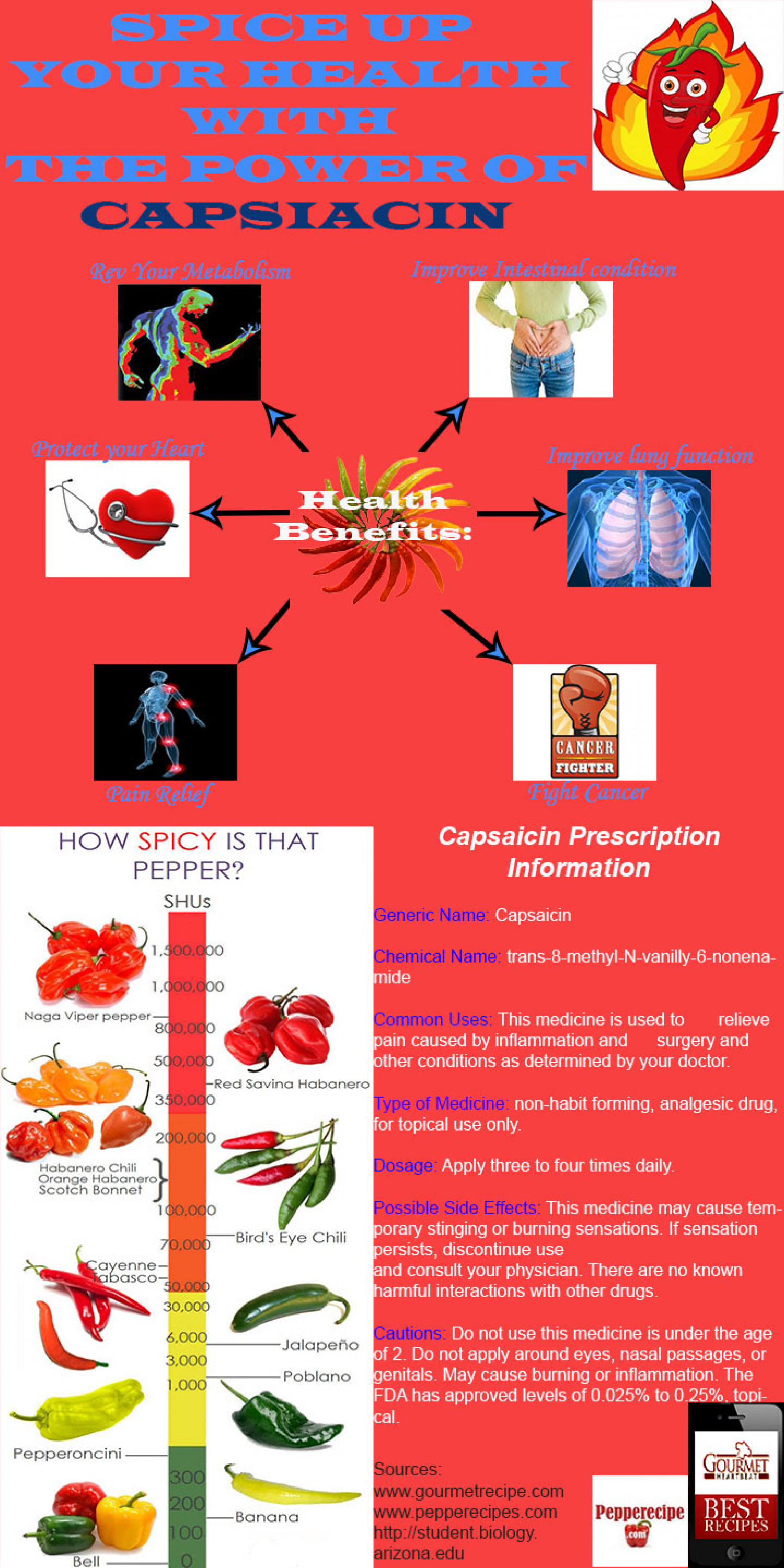 Spice Up Your Health with the Power of Capsiacin Infographic
