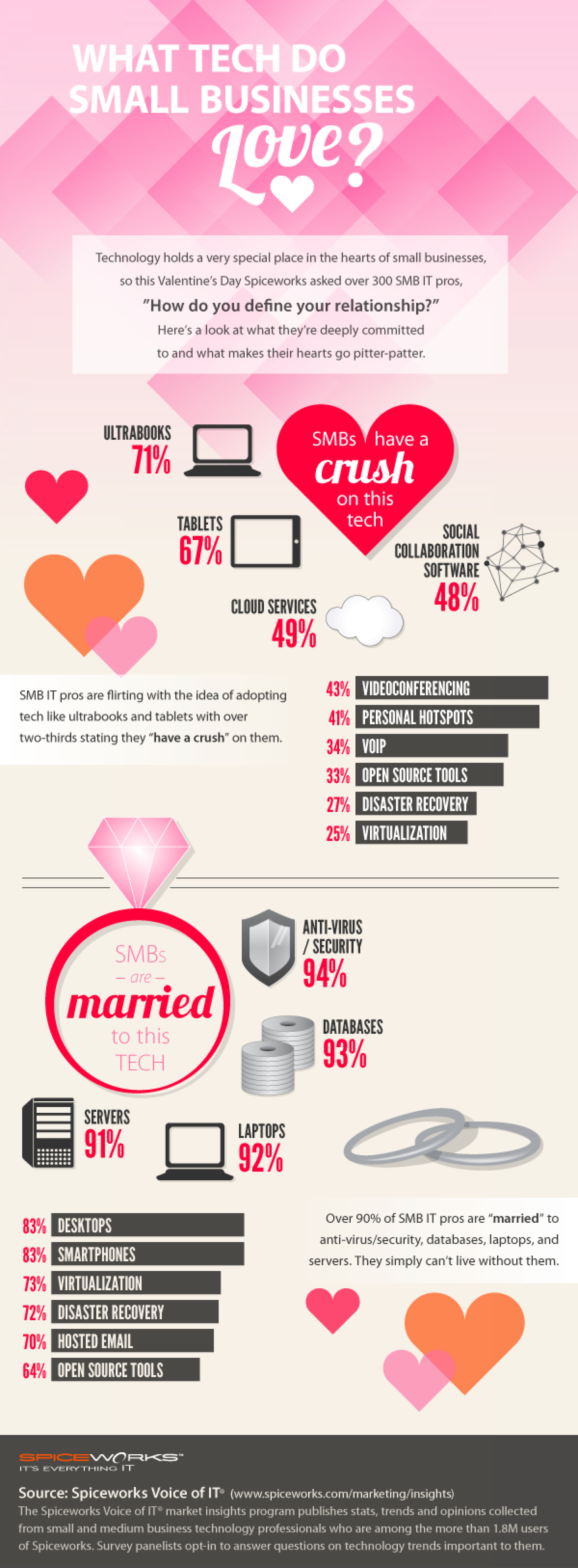 Spiceworks Valentine's Day Infographic Infographic