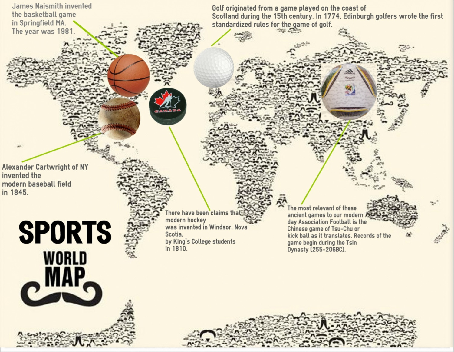 Sports Map of The World (CLEAN EDITION) Infographic