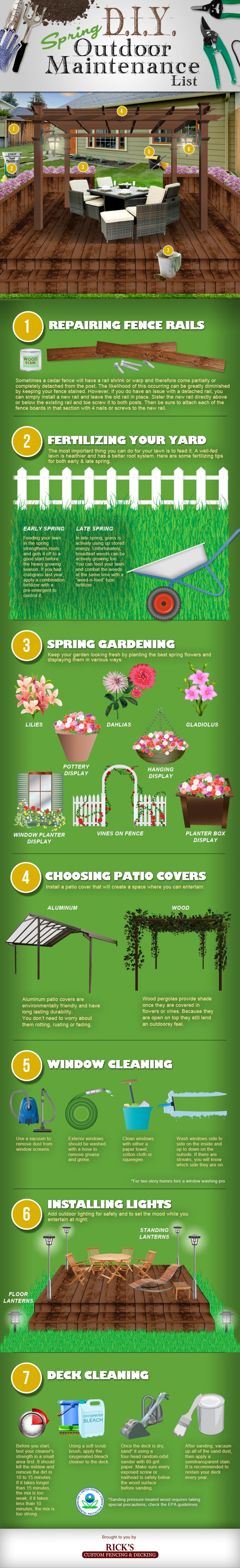 Spring DIY Outdoor Maintenance List Infographic