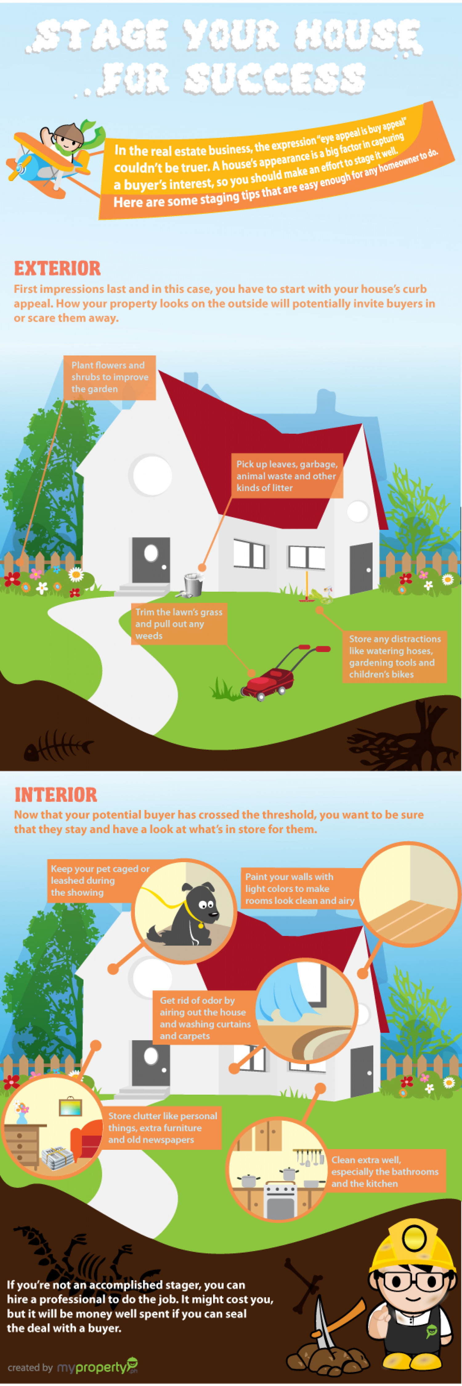 Stage Your House for Success Infographic